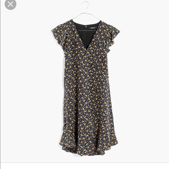 d7759f6bcc7 Madewell Dresses   Skirts - Madewell Silk Ruffle Dress Falling Leaves ...